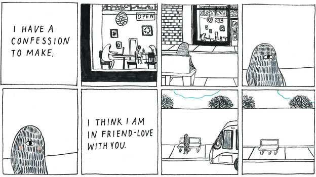 Yumi Sakugawa's book I Think I Am In Friend Love With You helps define the joys of modern friendships.