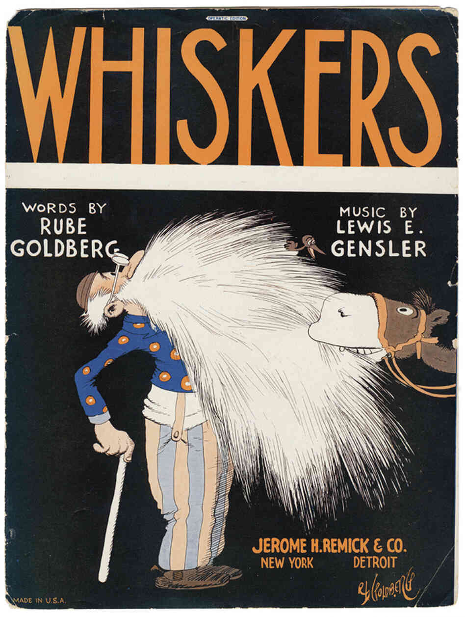 "Goldberg wrote a number of songs, some of which were published as sheet music. The original art for the ""Whiskers"" sheet music is part of the permanent collection of the Society of Illustrators in New York City."