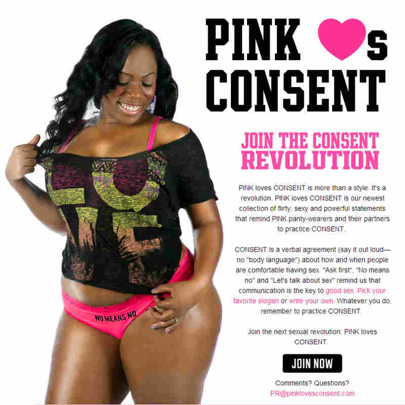 """Artist Hannah Brancato says that Victoria's Secret panties featuring phrases like """"stop staring"""" turn """"stop"""" and """"no"""" into part of a flirtation. FORCE's consent-themed underwear is an attempt to change that culture."""