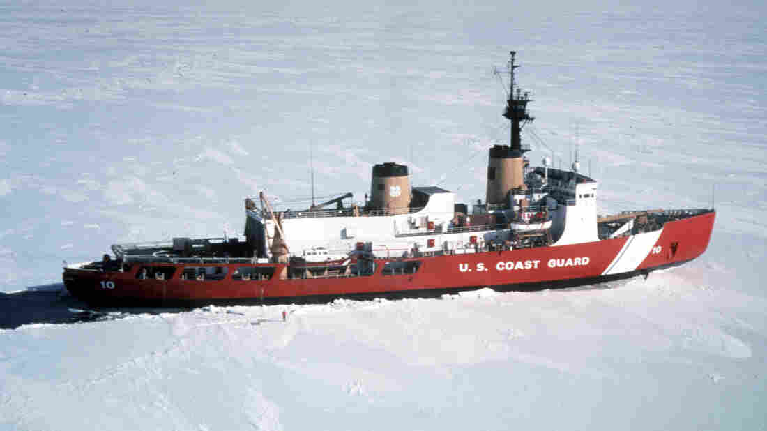 The U.S. Coast Guard icebreaker Polar Star, seen here in 1999, has been sent to help free Russian ship Akademik Shokalskiy and Chinese icebreaker Xue Long, which are gripped by Antarctic ice.