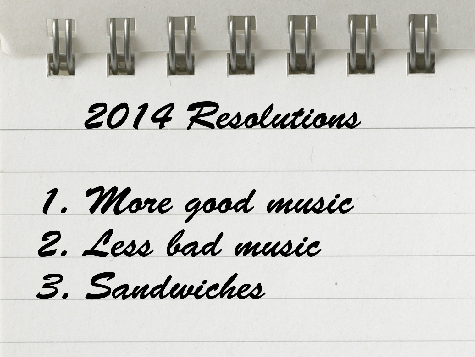 Question Of The Week: What Are Your Music Resolutions For 2014?