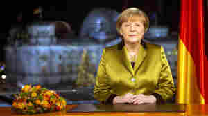 German Chancellor Angela Merkel after the recording of her annual New Year's speech at the Chancellery in Berlin, Germany, on Dec. 30.