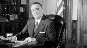 FBI director J. Edgar Hoover is seen in his Washington office, May 20,