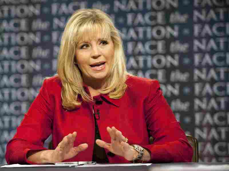 Liz Cheney during a 2010 appearance on the CBS news program Face the Nation.