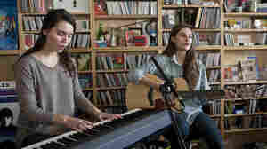 Lily & Madeleine, at a Tiny Desk concert in November 2013.