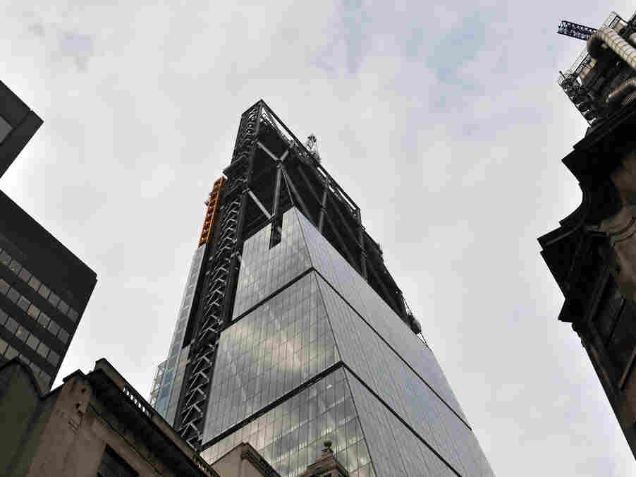 """The Leadenhall building, more commonly known as """"The Cheese Grater,"""" is shown here under construction on June 19, 2013."""
