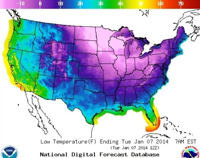 Nation Turns Blue As Temperatures Continue To Plunge The TwoWay NPR