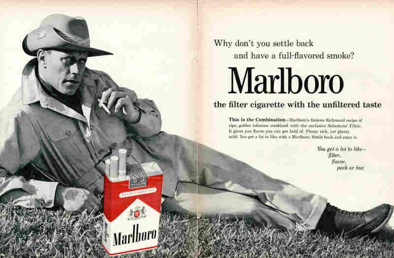 Philip Morris's iconic Marlboro Man from 1962.