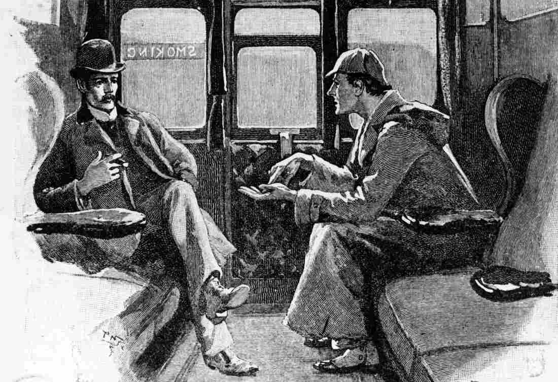 Detective Sherlock Holmes and Dr. John Watson travel by train in original artwork from Strand magazine. A federal judge in Chicago recently ruled that the characters in Arthur Conan Doyle's stories — excluding any elements introduced in the last 10 stories released in the U.S. after 1922 — now reside in the public domain.