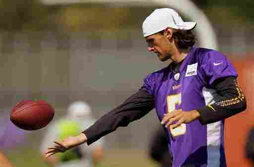 Minnesota Vikings punter Chris Kluwe at training camp in July 2012, in Mankato, Minn.
