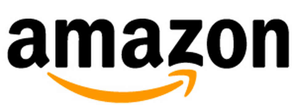 Detail of Amazon logo.