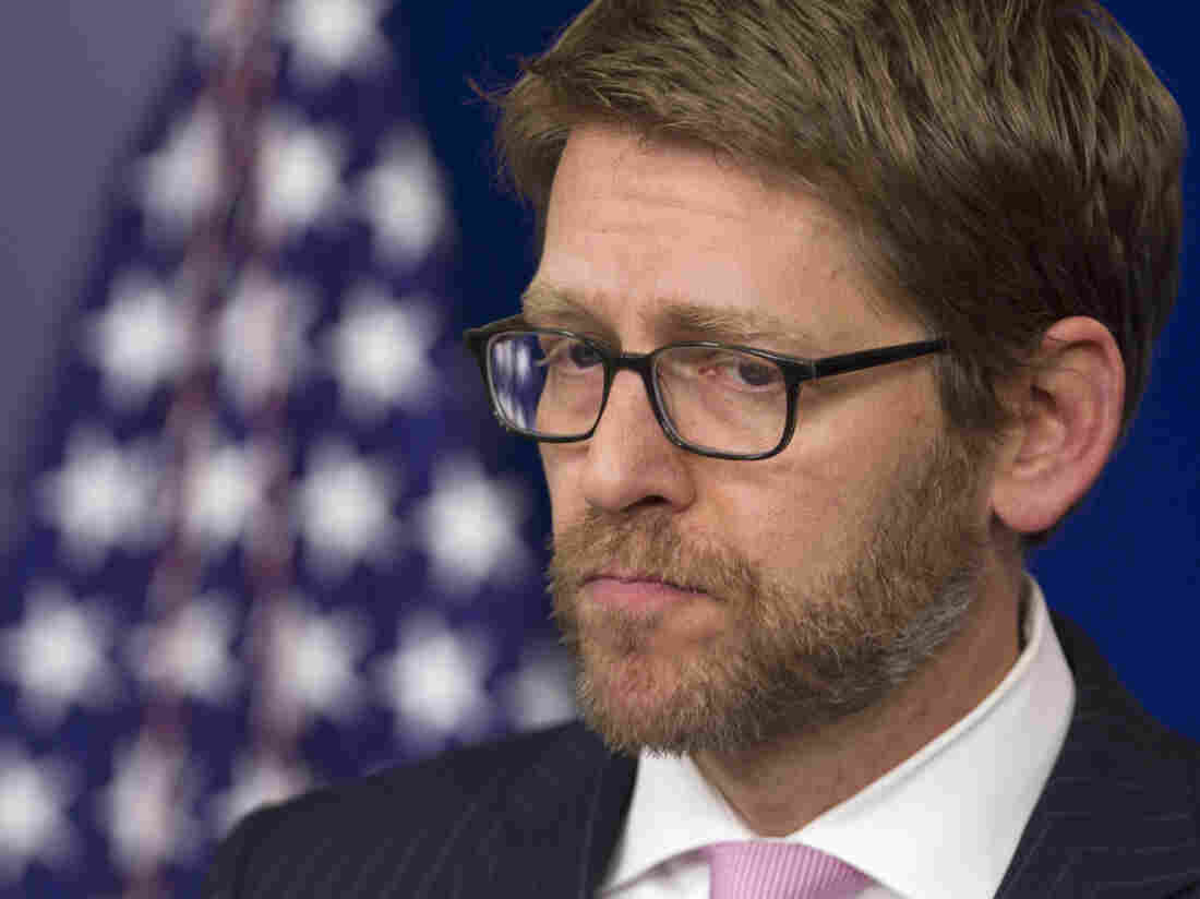 White House press secretary Jay Carney fields questions Wednesday about form