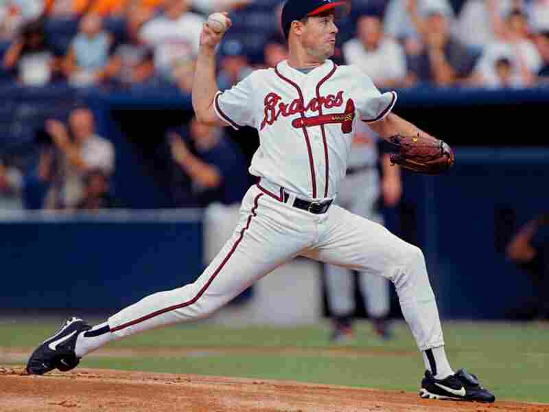 Atlanta Braves starting pitcher Greg Maddux delivers to a Baltimore Orioles batter at Turner Field in Atlanta in 1999.