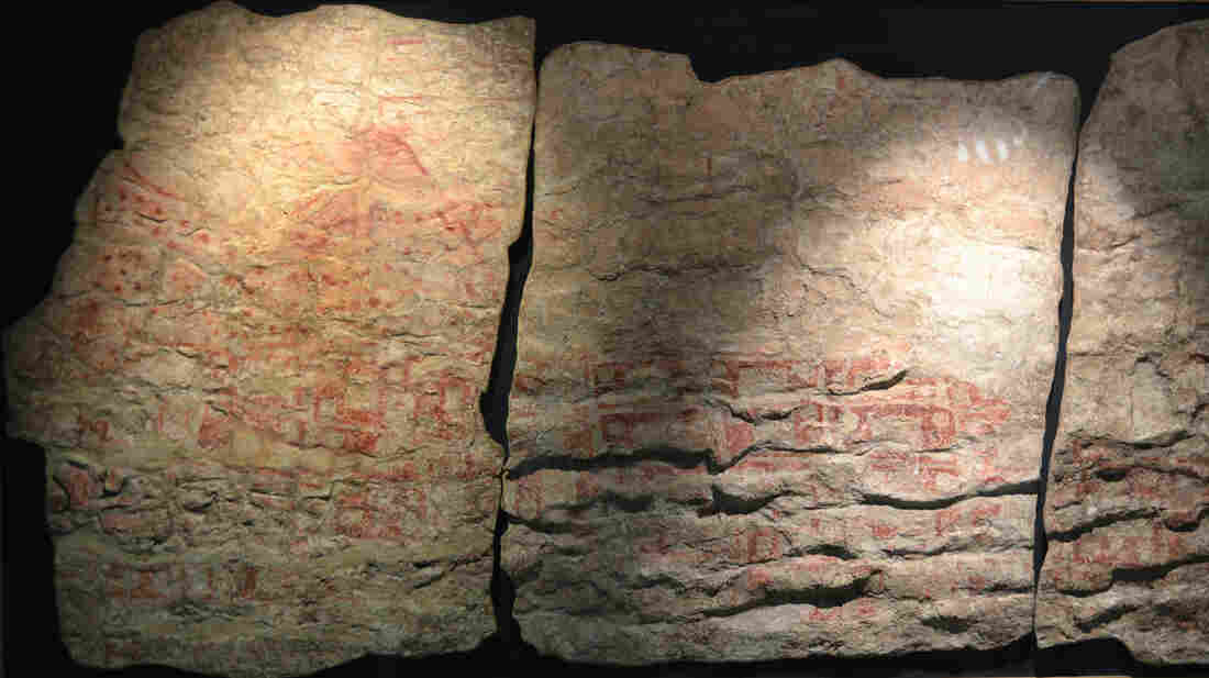 Could this Catalhoyuk mural, now faded with age, be the world's oldest map?