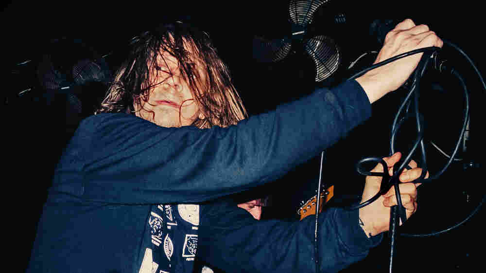 "Mike ""IX"" Williams onstage at The Acheron in Brooklyn in November."