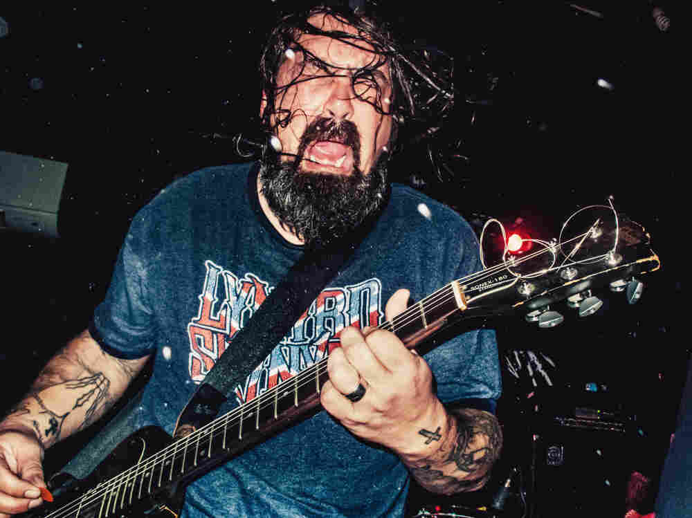 Jimmy Bower onstage at Eyehategod's November performance at The Acheron in Brooklyn.