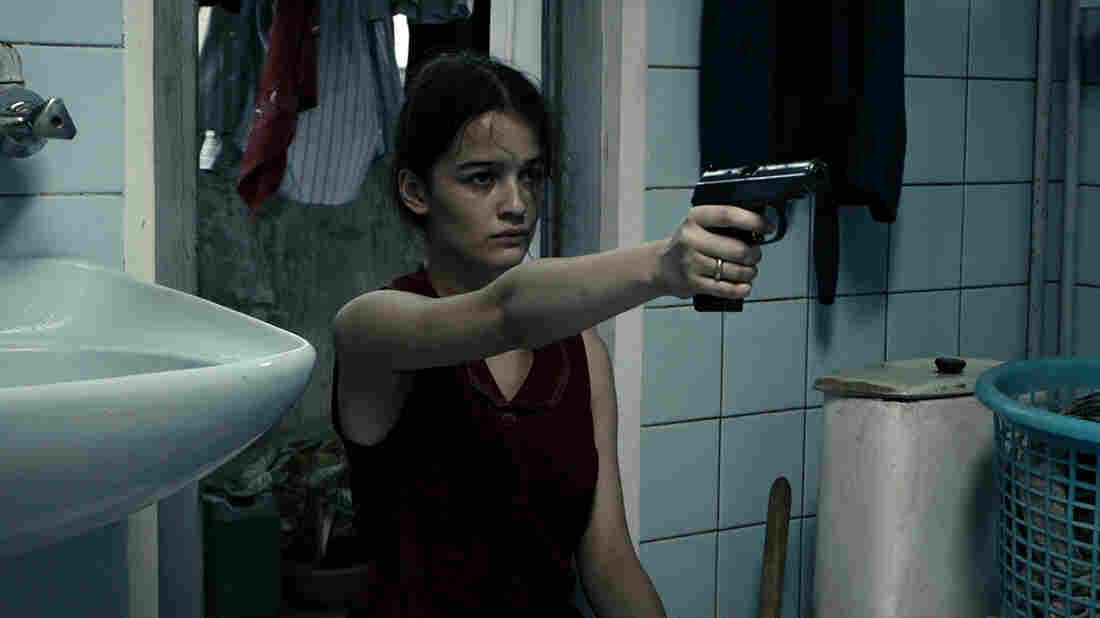 In the chaos of post-independence  Georgia, 14-year-old Natia (Mariam Bokeria) receives a present from her romantic interest — a gun — in In Bloom.