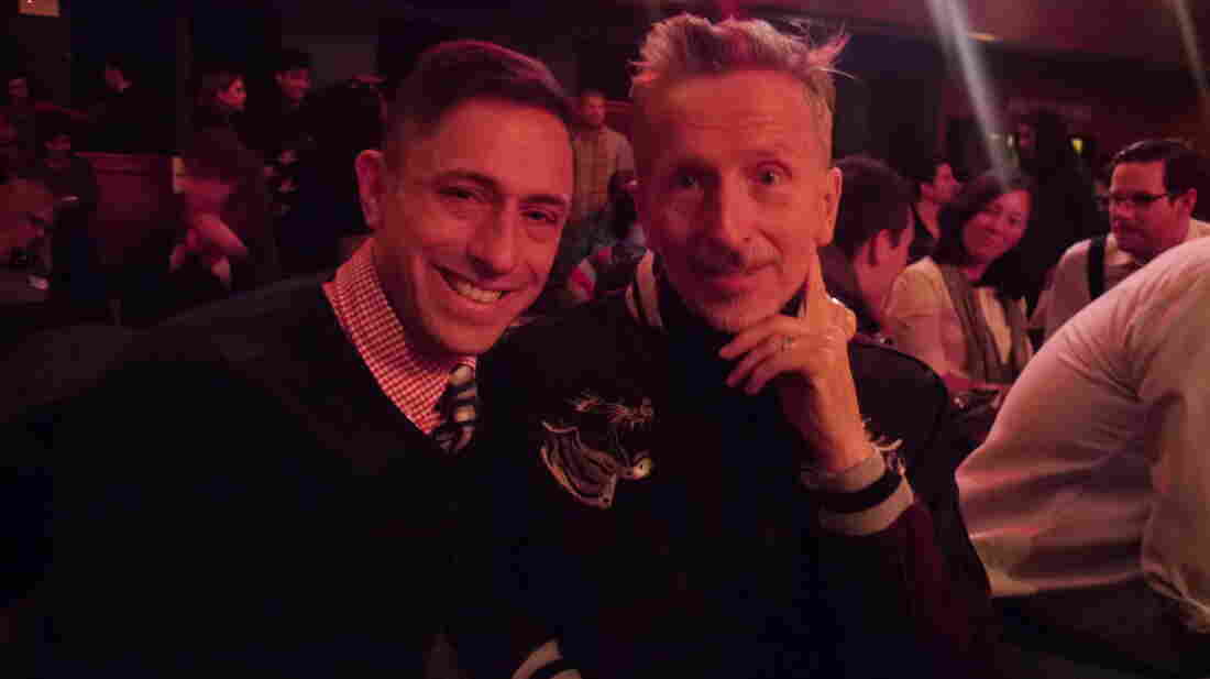 Jonathan Adler (left) with husband Simon Doonan.