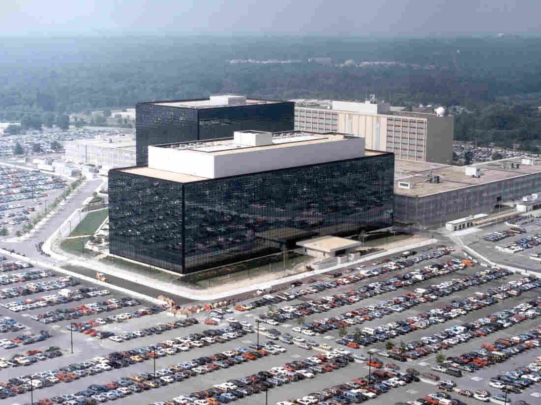 The National Security Agency headquarters building in Fort Meade, Md.