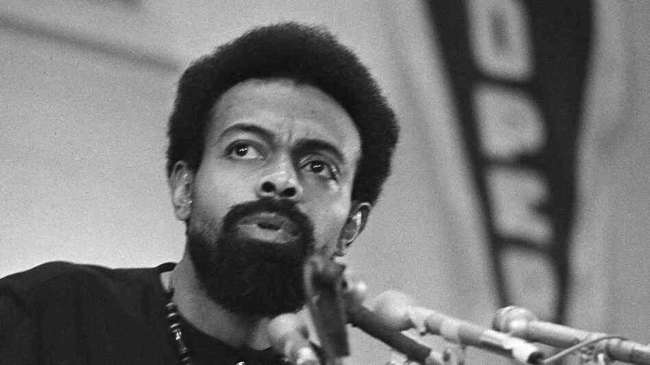 Amiri Baraka, shown here in 1972, was a renowned poet whose politics strongly shaped his work.