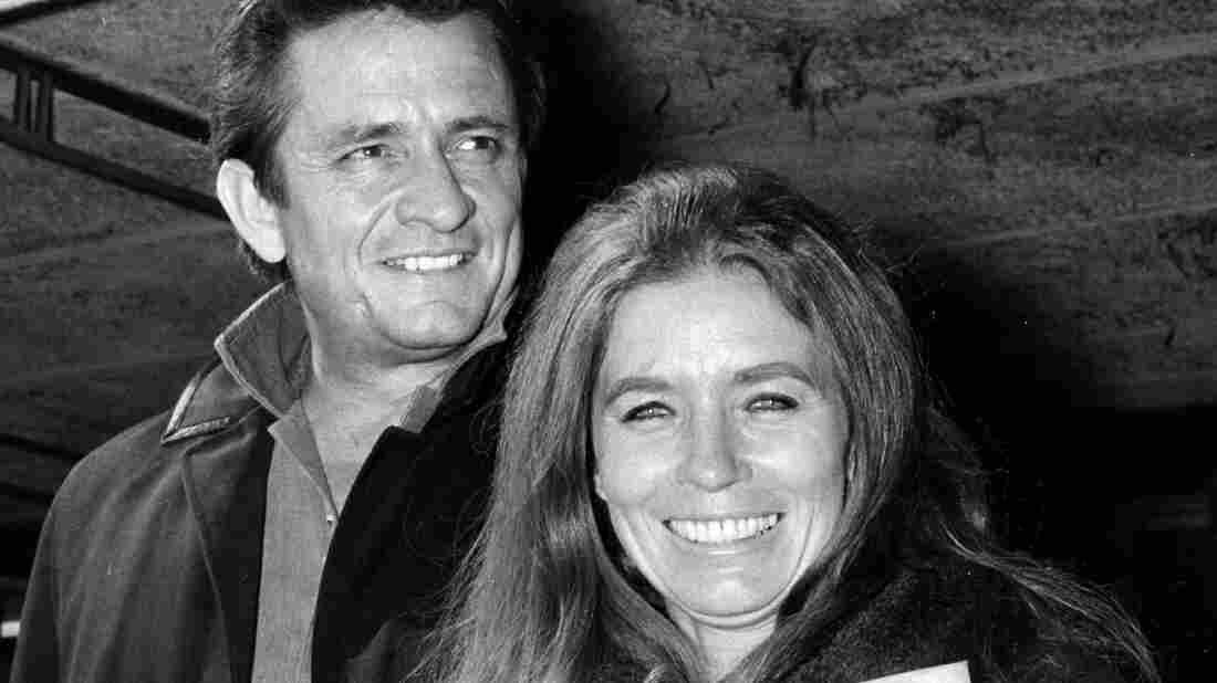 Johnny Cash and June Carter Cash, seen here in 1968, had a relationship that offended many fans' sensibilities. But their complicated romantic history hasn't affected either's musical legacy.