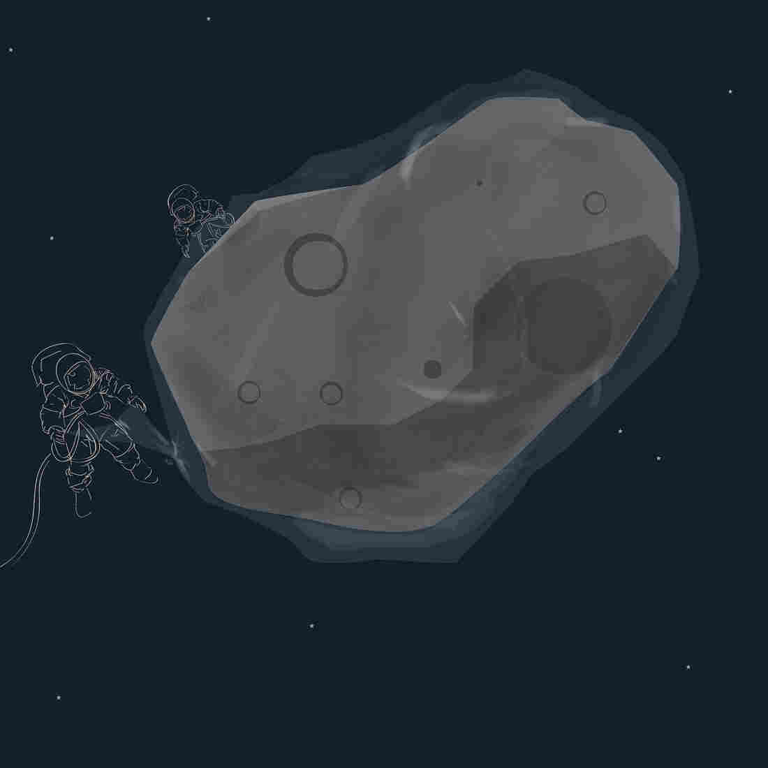 "Maria Fabrizio imagines what NASA's plan to ""shrink-wrap"" an asteroid might look like."