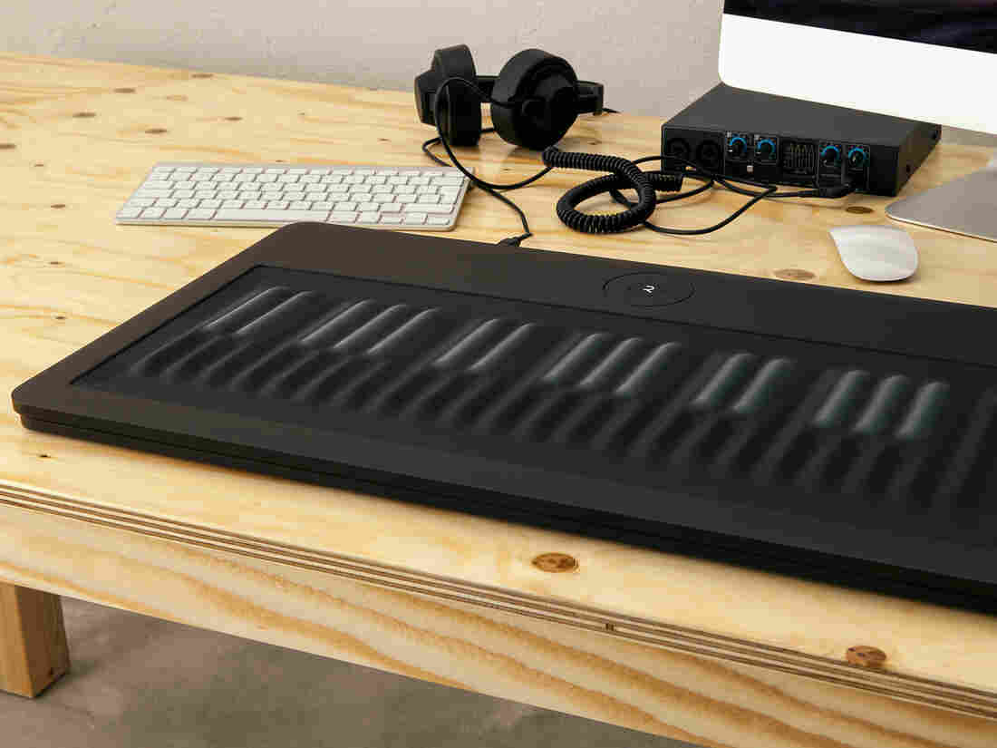 Fitted with rubbery keys and advanced electronics, the Seaboard was designed to realistically mimic other instruments by letting players pull off subtle bends and slides between notes.