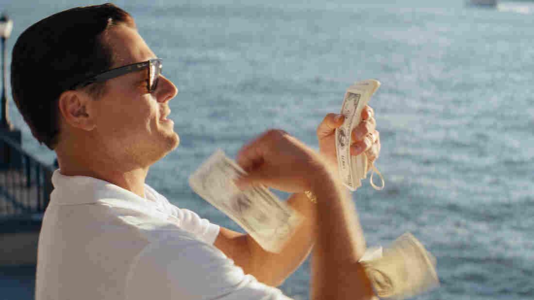 Other people's money: Leonardo DiCaprio plays high-living stock swindler Jordan Belfort in The Wolf of Wall Street.