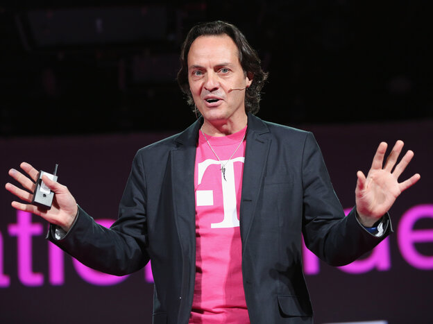 John Legere, CEO and president of T-Mobile USA, crashed rival