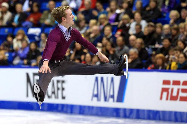 Ross Miner skates during the men's short program at t