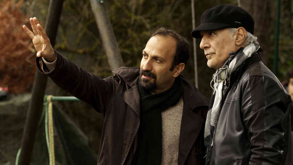 Filmmaker Asghar Farhadi and cinematographer Mahmo