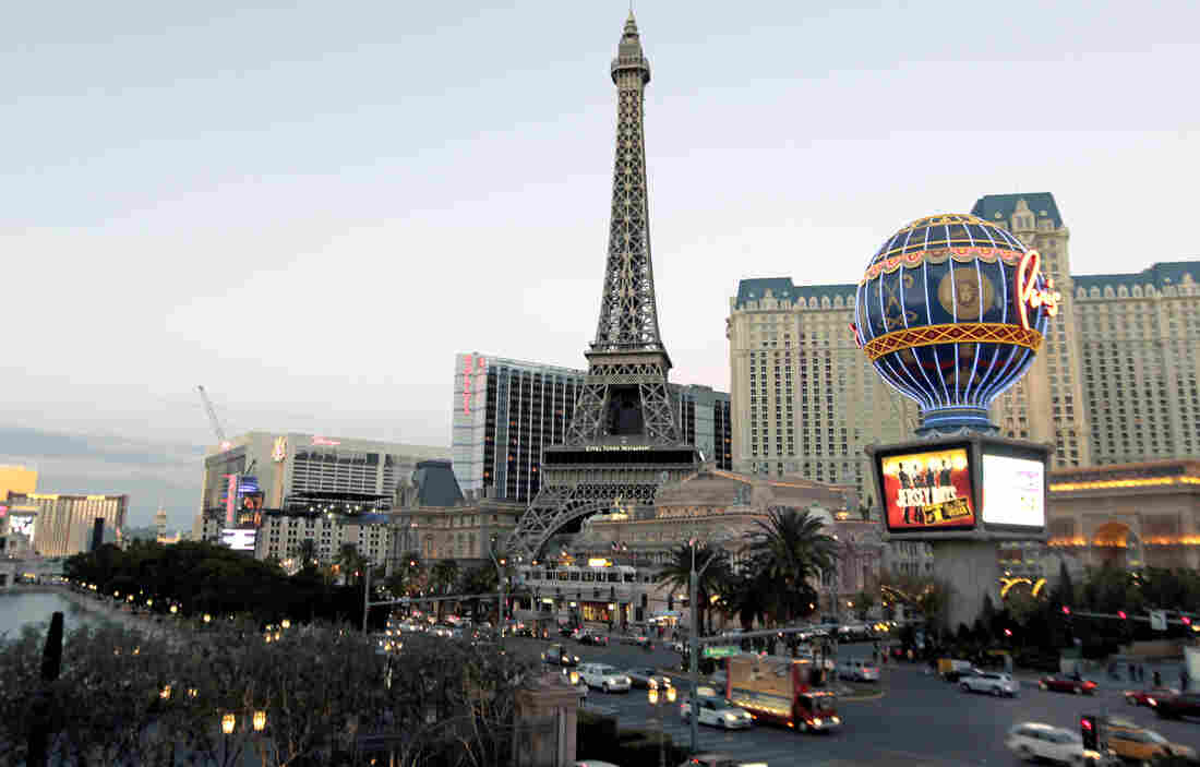 Large casinos in Nevada are continuing their losing streak, reporting more than a billion dollars in losses for the most recent fiscal year. Here, a view of Paris Las Vegas, a hotel and casino located on the Las Vegas Strip.