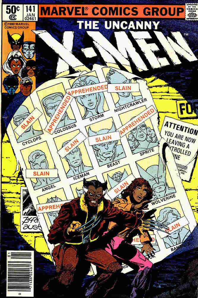 As part of Orion Martin's project, X-Men of Color, he reimagined this famous X-Men cover by recoloring two characters as brown. This cover comes from a storyline in which mutants are being rounded up and exterminated by the government.