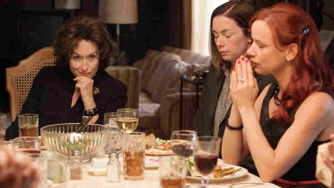 From left, Meryl Streep, Julianne Nicholson and Juliette Lewis star in August: Osage County.