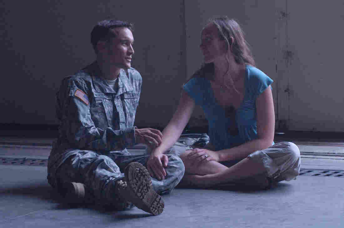 This photograph of Artis Henderson and her husband Miles was taken in 2006, on the day he deployed to Iraq. Miles was killed just a few months later in an Apache helicopter crash.