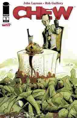The main character in the acclaimed comic book series Chew is Tony Chu, a Chinese-American police detective who can receive psychic visions about any object he ingests. (This includes people.)