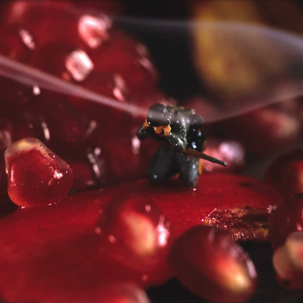 Pomegranate grenade.