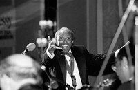Jimmy Heath directs his big band in New York, during a New Year's Eve broadcast for WBGO Radio in 1997.