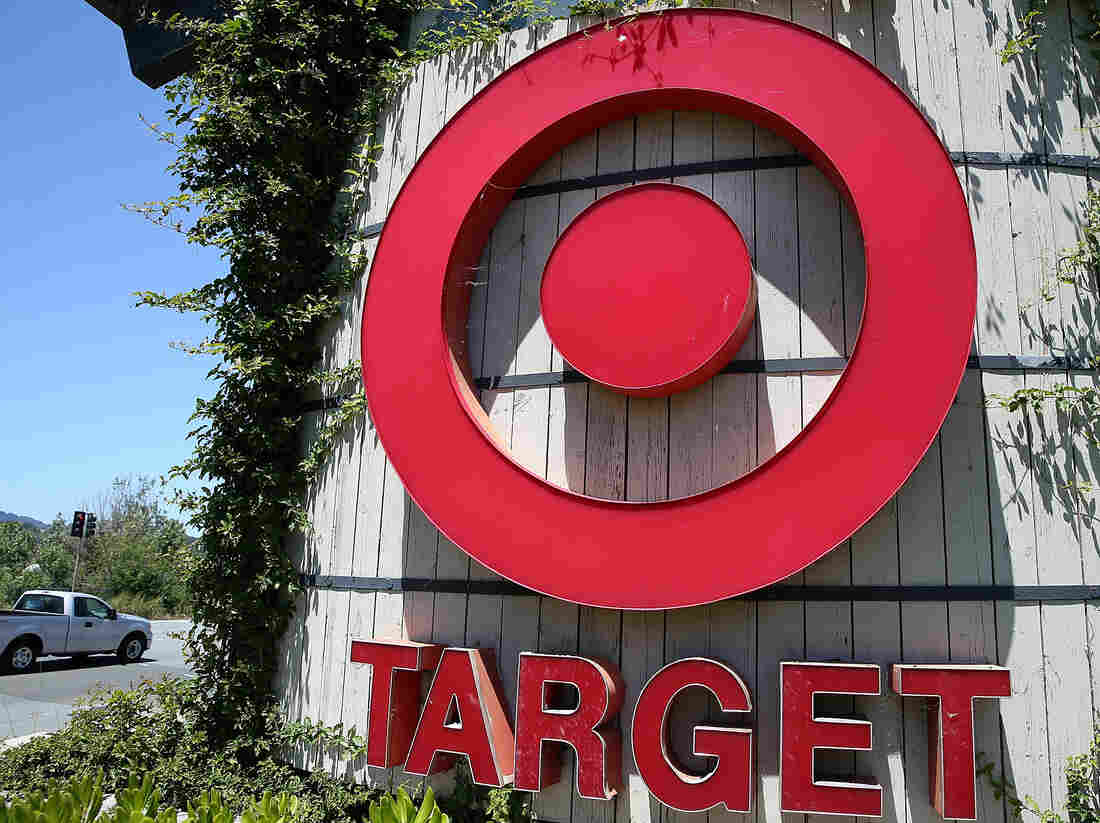 The sign in front of a Target store in Novato, Calif.