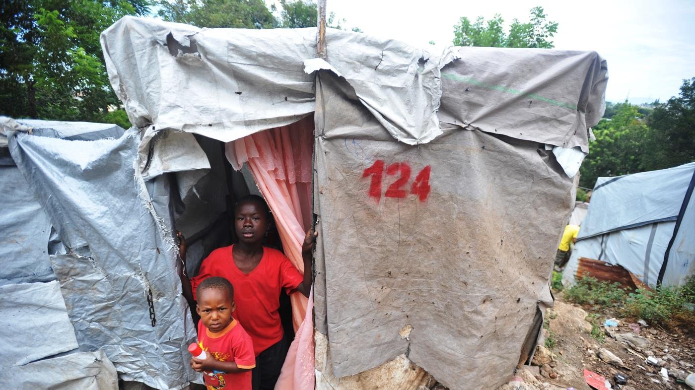 haiti earthquake remain many four npr displaced haitians 1400 quake much lives