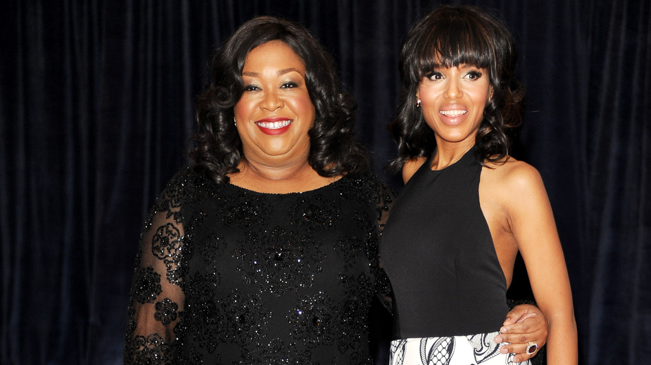 Screenwriter Shonda Rhimes, left, and actress Kerry Washington are hot in Hollywood due to the success of the TV show Scandal. (AP)