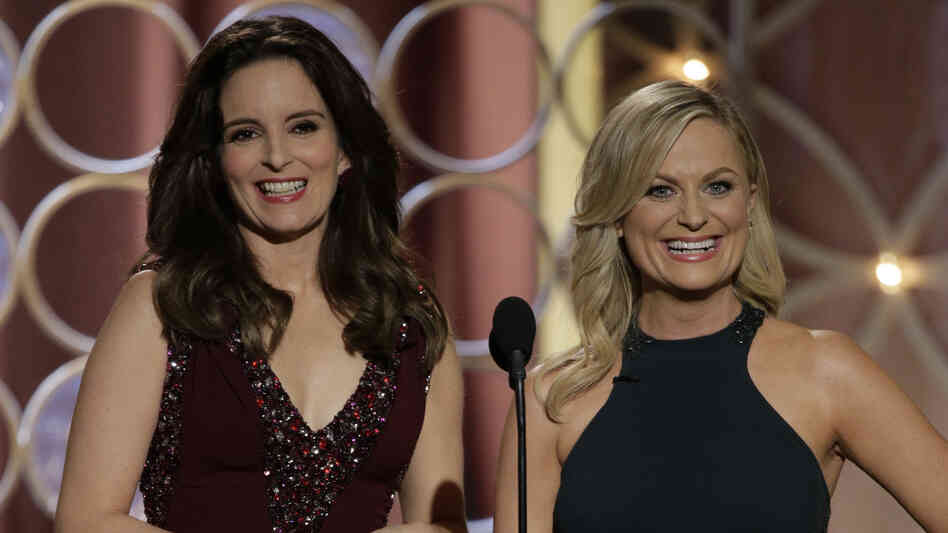 Hosts Tina Fey and Amy Poehler were the hands-down highlight of the deeply silly Golden Globes.