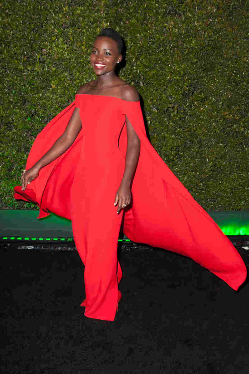 Lupita Nyong'o, nominated for 12 Years a Slave, wore this absolutely amazing dress, which almost made watching two hours of red carpet coverage worthwhile.