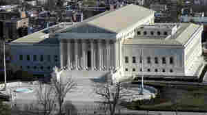 A view of the Supreme Court can be seen from the view from near the top of the Capitol dome on Dec. 19 in Washington.