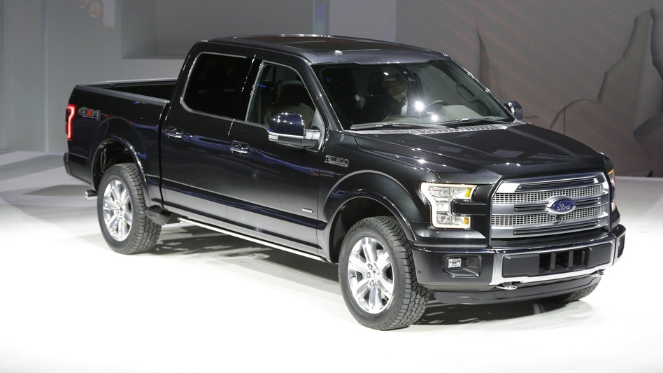 At Detroit's North American International Auto on Monday, Ford unveiled the new F-150 with a body built almost entirely out of aluminum. (AP)