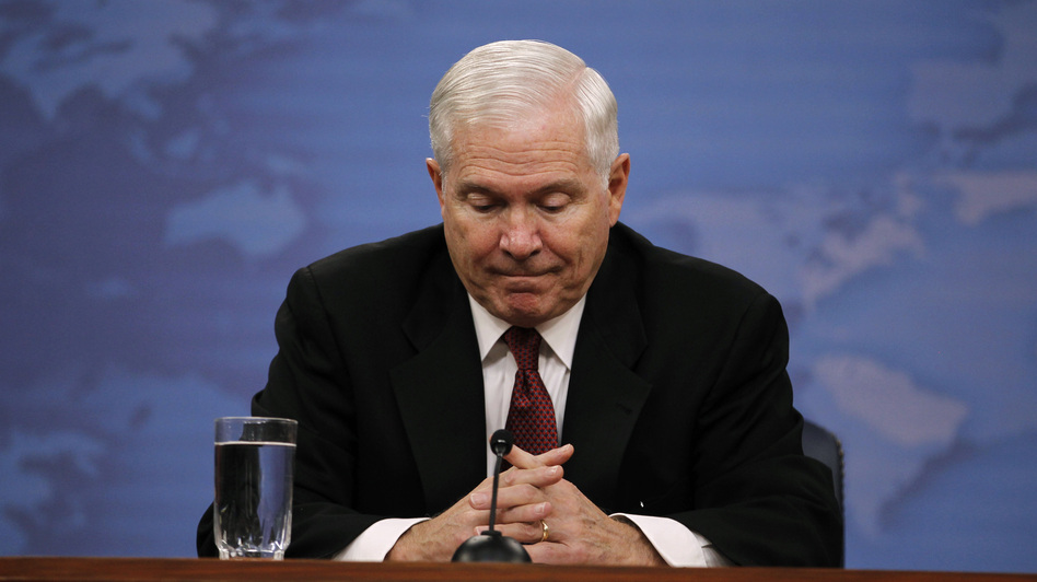 Robert Gates in June 2011 during his final official news conference as secretary of defense. (Reuters/Landov)