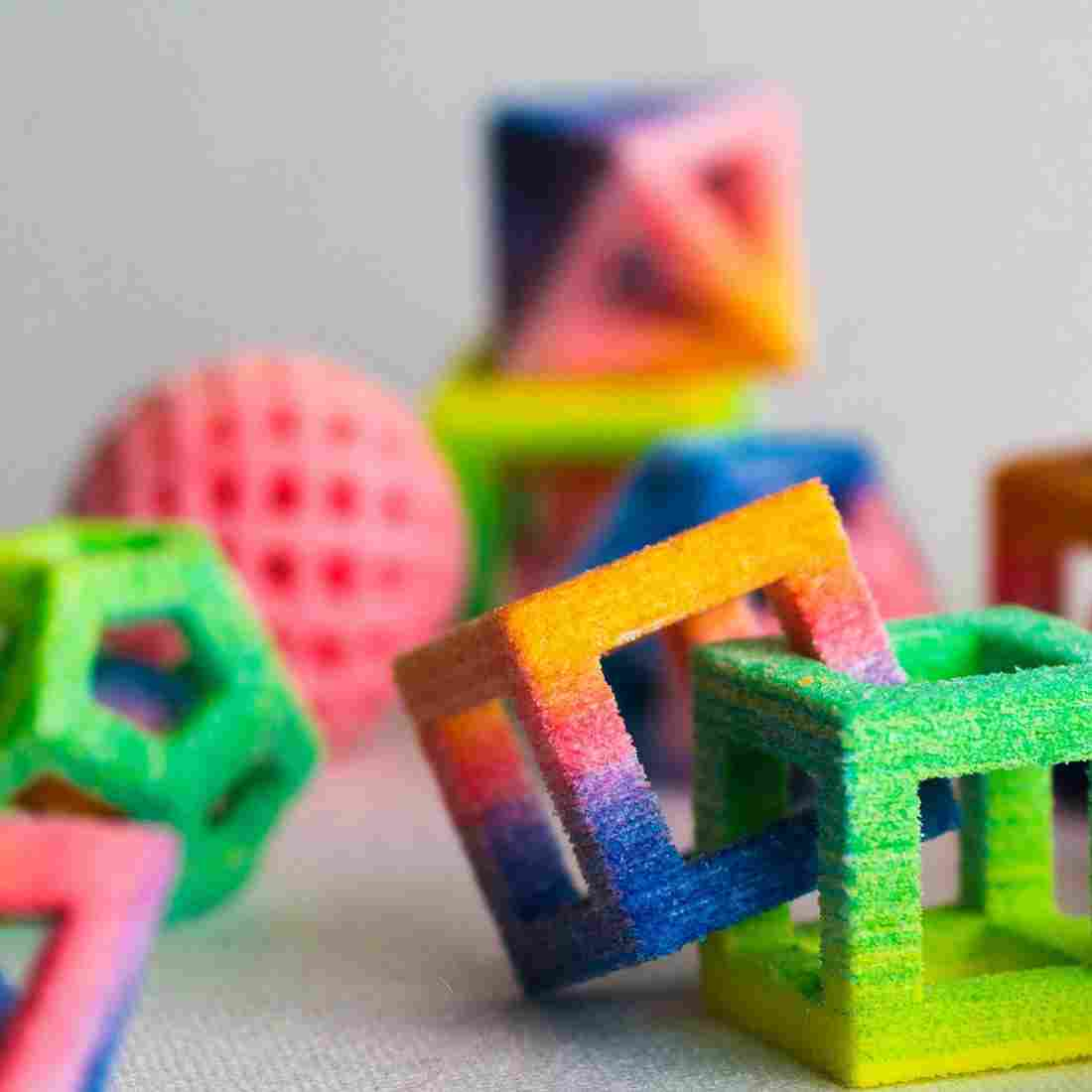 Spinach Dinosaurs To Sugar Diamonds: 3-D Printers Hit The Kitchen
