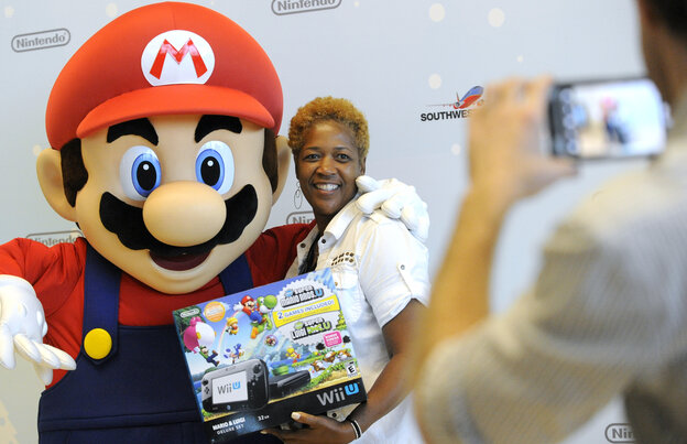 A Southwest Airlines passenger thanks Mario for giving away free Wii U systems on a flight from New Orleans to Dallas in November.