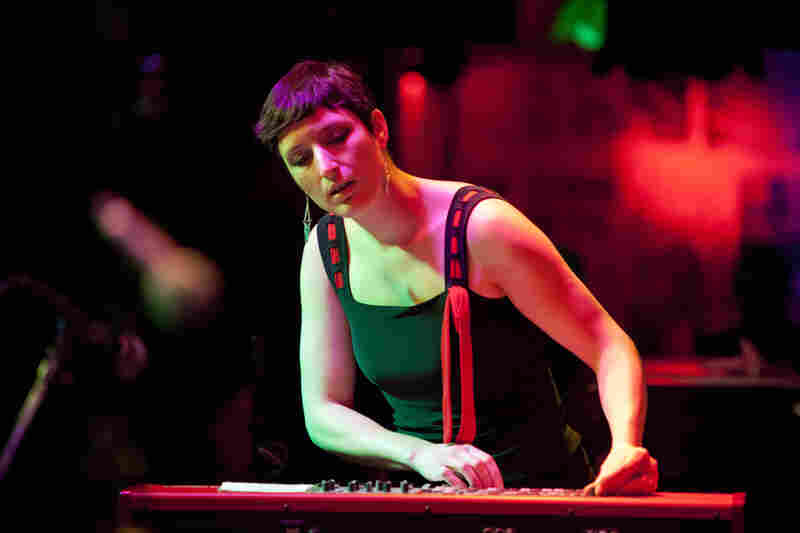 Rebecca Sanborn plays keyboards in the Portland, Ore., band Blue Cranes, whose East Coast tour stopped at Winter Jazzfest.