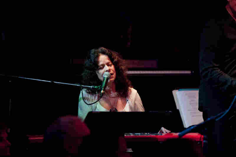 Pianist Michele Rosewoman led a 12-person edition of her New Yor-Uba band at the start of Saturday night.